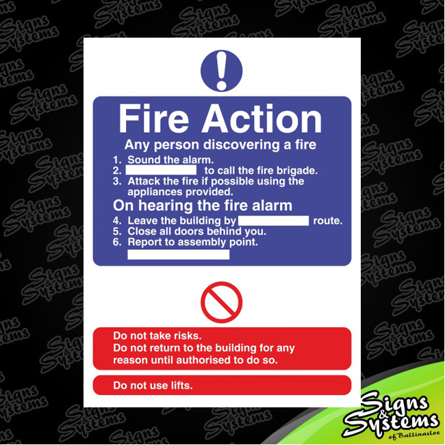 Workshop Signs/Fire Action