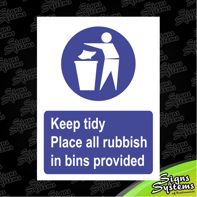 Workshop Signs/Keep Tidy