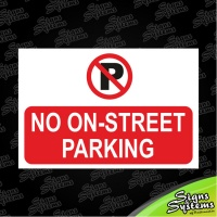 Construction Signs/No On-Street Parking