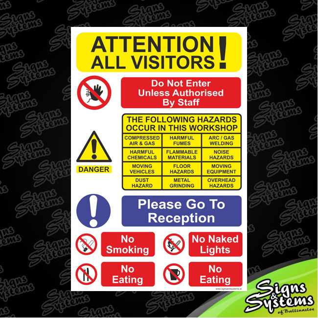 Workshop Signs/Attention All Visitors