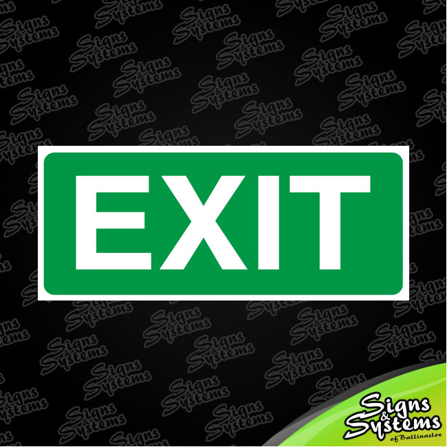 Workshop Signs/Exit